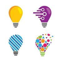 immagini del logo della lampadina vettore