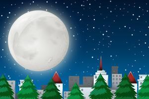 Una scena notturna invernale