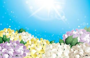 concetto di sfondo del fiore di ortensia vettore