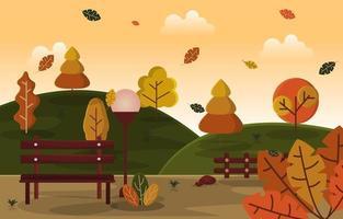 autunno stagione autunnale campagna colline natura paesaggio vettore