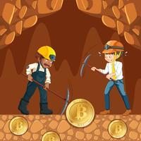 Moneta e lavoratore di moneta cibernetica
