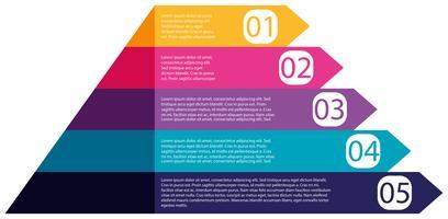 Diagramma di infografica piramide colorata