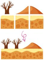 Un elemento di gioco Desert Dune vettore