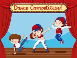 Concetto di performance di Dance Compeition vettore