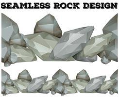Design roccia grigia senza soluzione di continuità vettore