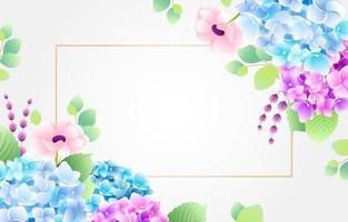 sfondo di fiori di ortensia vettore