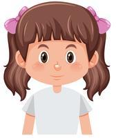 Un carattere ragazza bruna mazzi