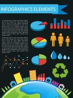 Elementi di infografica vettore