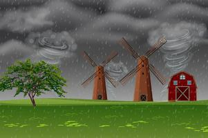 Tempesta in fattoria vettore