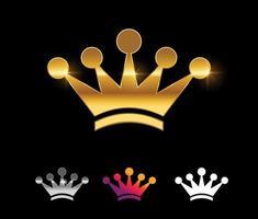 segno vettoriale corona d'oro