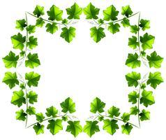 Design a foglia verde vettore