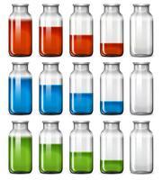 Un set di bottiglie liquide