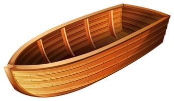 W ooden boat vettore