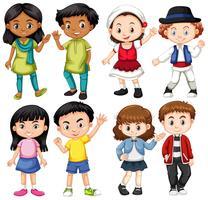 Gruppo di bambini internazionali vettore