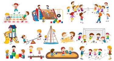 Set di bambini che giocano