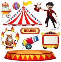 Un set di Fantasy Circus vettore
