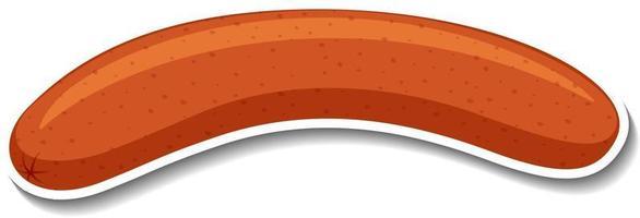 un adesivo di salsiccia su sfondo bianco vettore