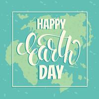Concetto di giornata per la Terra con lettering disegnare a mano. vettore