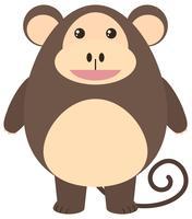 Scimmia marrone con faccia felice vettore