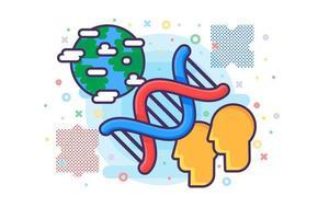 vettore dell'icona della ricerca scientifica della biologia molecolare