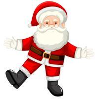 Un felice Babbo Natale su bianco backgroud vettore