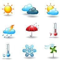 Condizioni meteorologiche differenti vettore