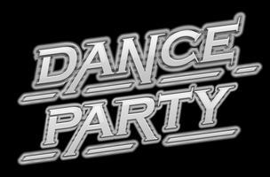 Testo di scena di ballo festa nera