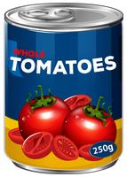 Una lattina di pomodori interi