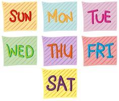 Sette giorni della settimana