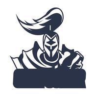 illustrazione dell'illustrazione dell'inchiostrazione del logo della mascotte della guerra dell'olimpo vettore