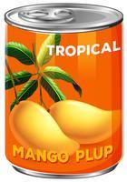 Una scatola di mango plup vettore