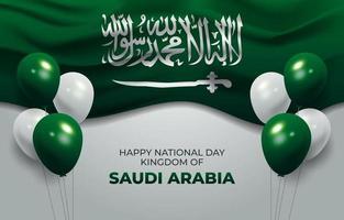 felice sfondo nazionale dell'Arabia Saudita vettore
