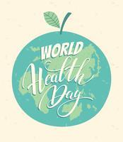 Illustrazione di vettore di giornata mondiale della salute.