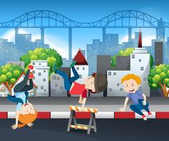 ballo di strada per bambini vettore