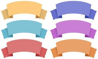 Stile medievale di banner in molti colori