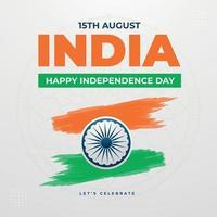 design del post sui social media del giorno dell'indipendenza dell'india vettore