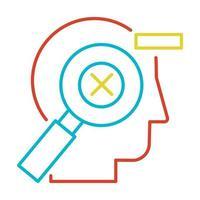 correzione degli errori, pittogramma di vettore lineare di gestione degli errori