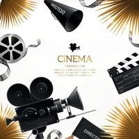 illustrazione vettoriale di sfondo di produzione cinematografica cinematografica