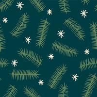 Natale e felice anno nuovo modello senza cuciture con rami di conifere.