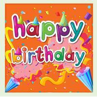 Modello di carta per il compleanno con sfondo di nastri