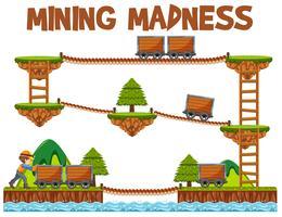 Modello di gioco Adventure Mining Madness vettore