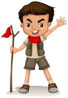 Un boy scout vettore