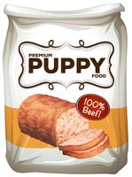 Sacchetto di cibo per cani premium vettore