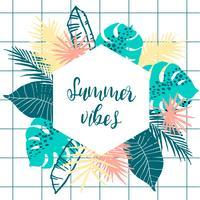 Design tropicale estivo. Modello vettoriale Elemento di design