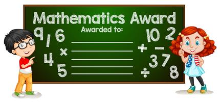 Concetto di modello di premio di matematica