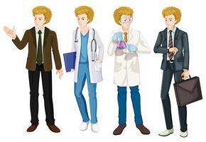 Un set di uniforme di occupazione maschile