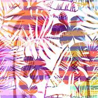 Modello esotico senza soluzione di continuità con palme tropicali in colore luminoso. vettore