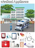 Apparecchio medico e scena ospedaliera
