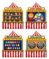 Una serie di tende Fair Fair vettore