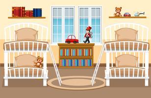 Uno sfondo camera da letto dormitorio vettore